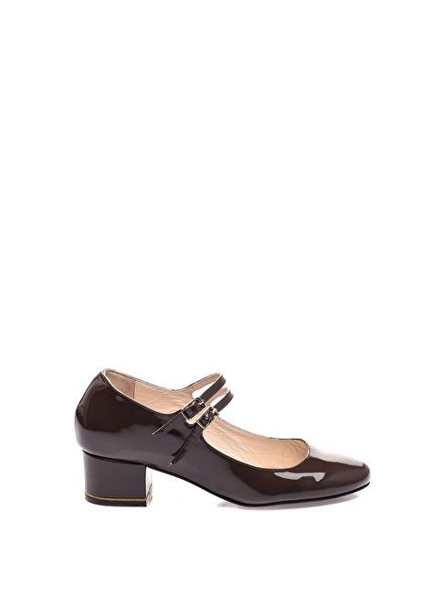 Vitello Topuklu Ayakkabı Vizon
